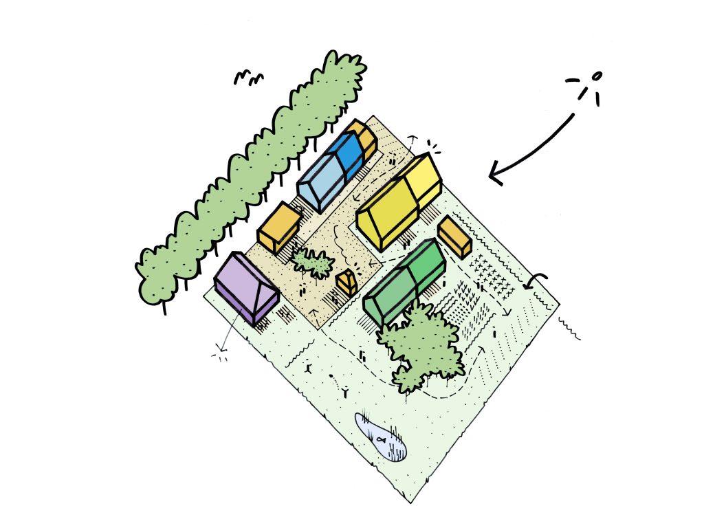 Ontwerp cohousing Zwarte Arend © B-bis architecten